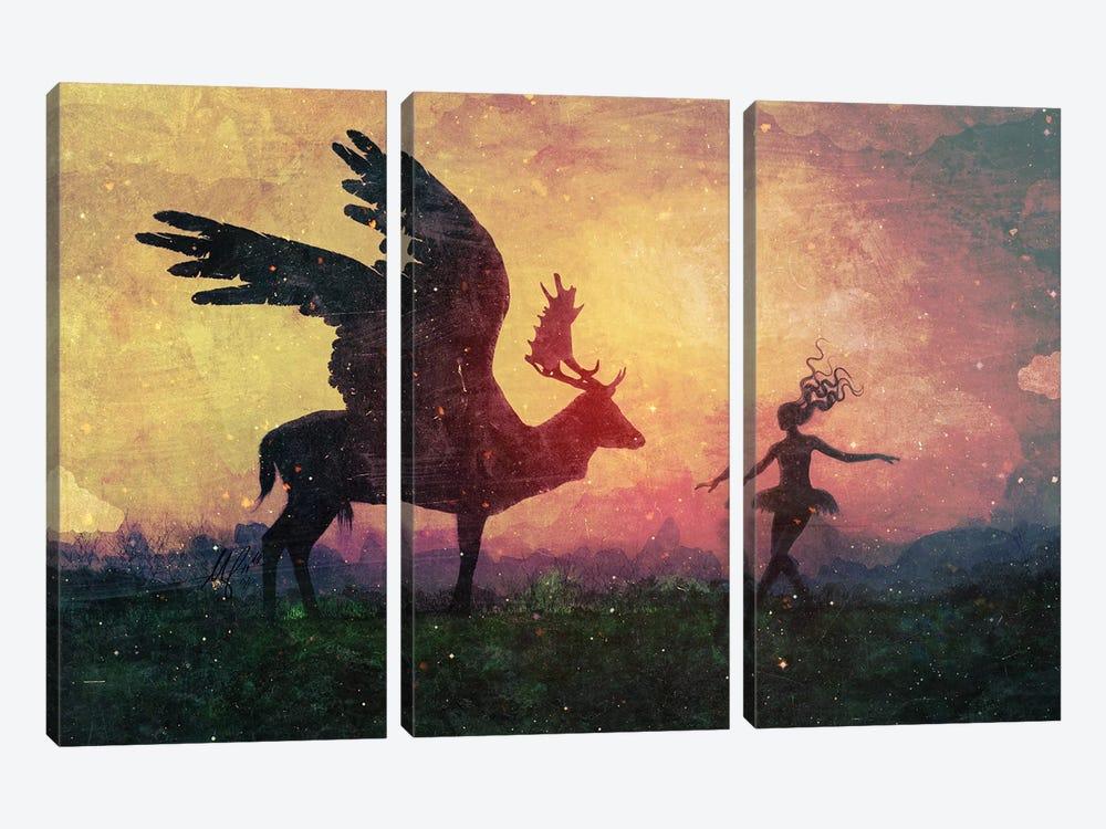 The Dancers by Mario Sanchez Nevado 3-piece Canvas Artwork
