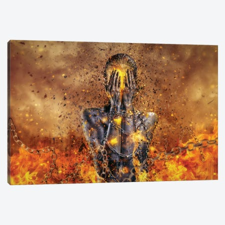 Through Ashes Rise Canvas Print #MSN108} by Mario Sanchez Nevado Art Print