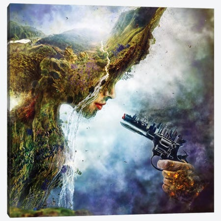 Betrayal Canvas Print #MSN11} by Mario Sanchez Nevado Canvas Art