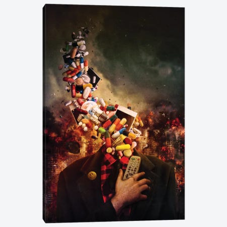 Comfortably Numb Canvas Print #MSN20} by Mario Sanchez Nevado Canvas Print