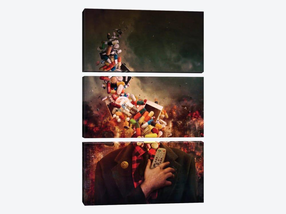 Comfortably Numb by Mario Sanchez Nevado 3-piece Canvas Artwork