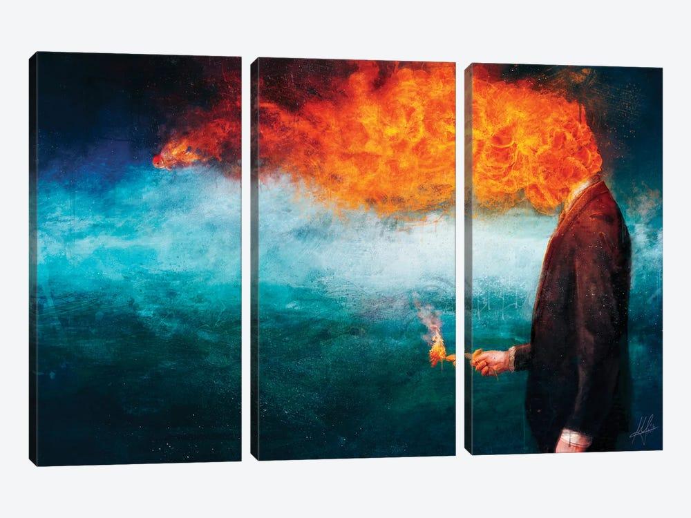 Deep by Mario Sanchez Nevado 3-piece Canvas Art Print