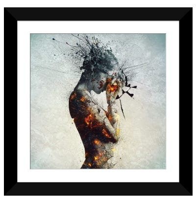 Deliberation Framed Art Print