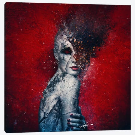 Indifference Canvas Print #MSN52} by Mario Sanchez Nevado Canvas Artwork