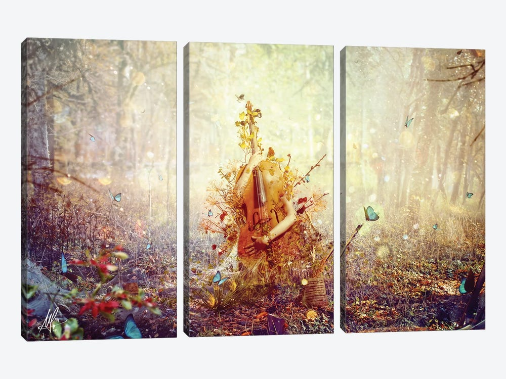 Silence by Mario Sanchez Nevado 3-piece Canvas Wall Art