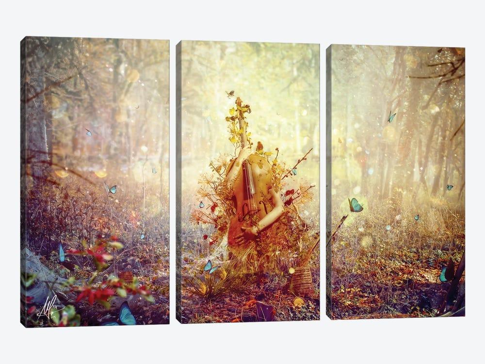 Silence by Mario Sanchez Nevado 3-piece Canvas Wall Art