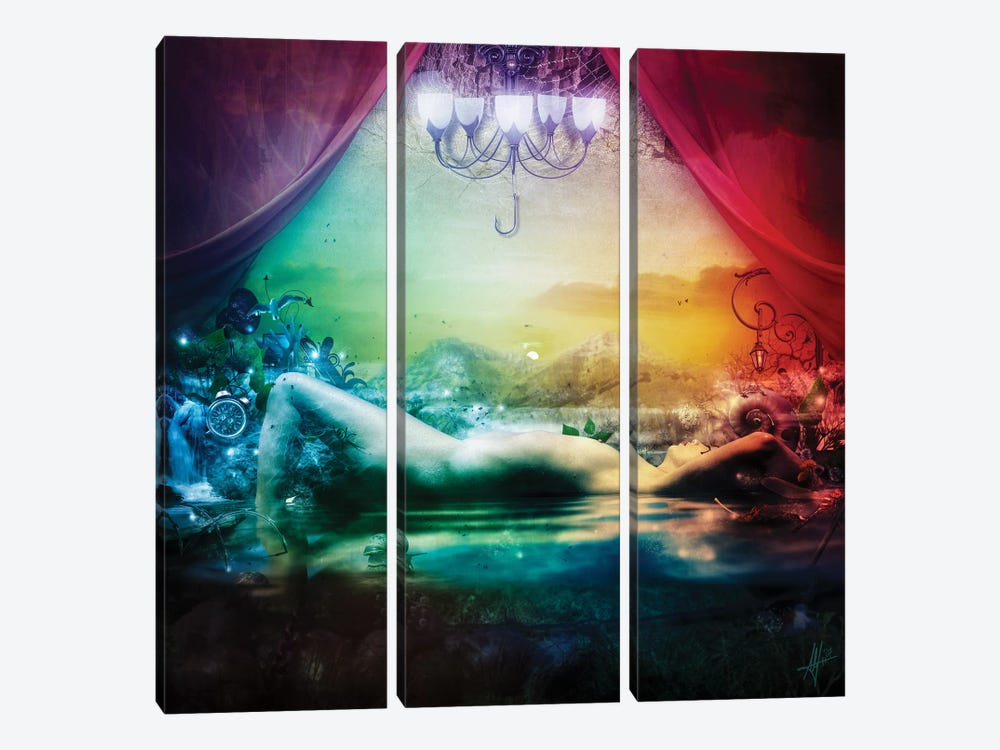Sleepless by Mario Sanchez Nevado 3-piece Canvas Print