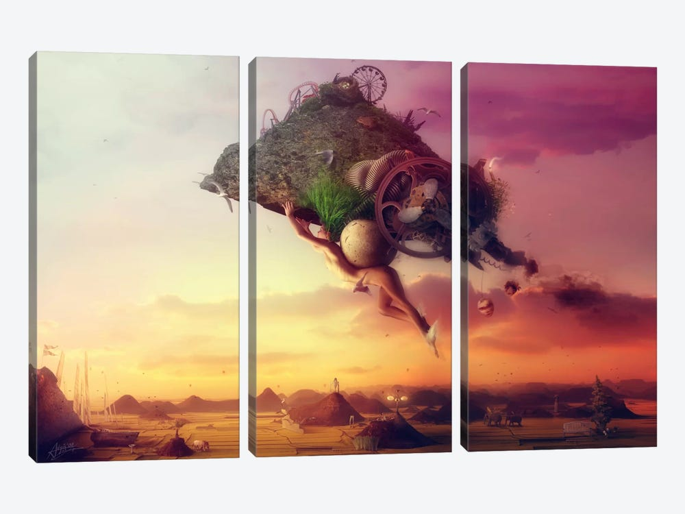 The Carnival Is Over 3-piece Canvas Art