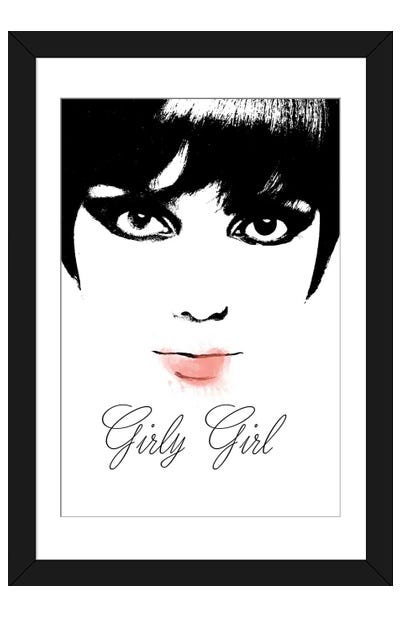 Girly Girl Framed Art Print