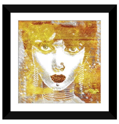 Gold Girl Framed Art Print