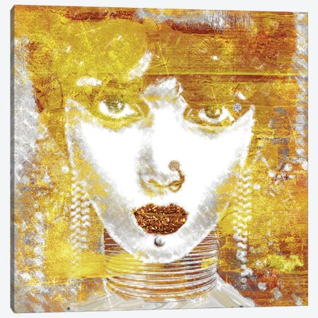 Gold Girl Canvas Print #MSO2} by Mindy Sommers Canvas Wall Art