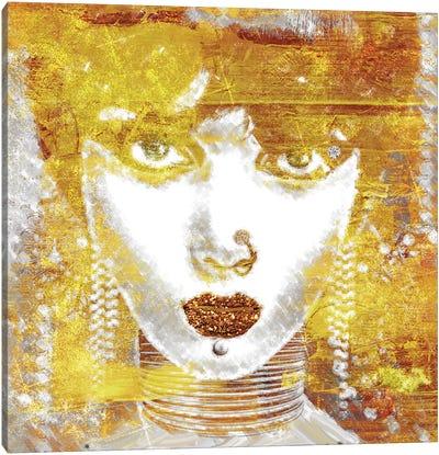 Gold Girl Canvas Art Print