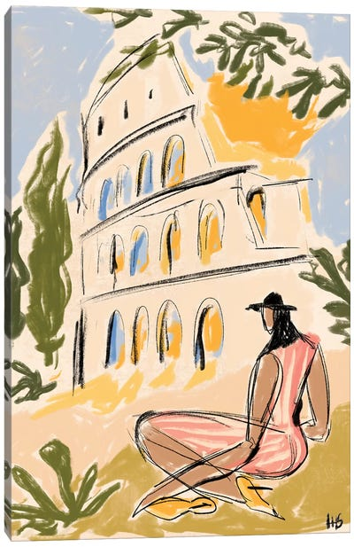 When In Rome Canvas Art Print