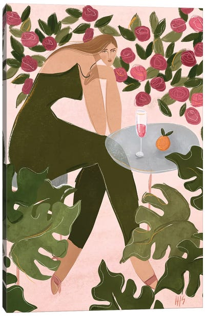 Brunch In The Rosegarden Canvas Art Print