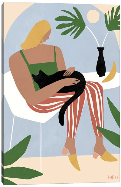 Cat Lady Canvas Art Print