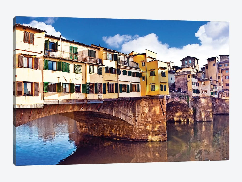 Ponte Vecchio, Florence, Tuscany Region, Italy by Miva Stock 1-piece Canvas Art Print