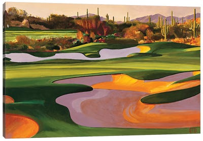 Arizona Golf Course Canvas Art Print