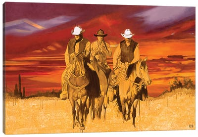 Old West Cowboys Canvas Art Print