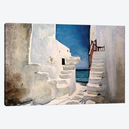 Greek Summer Canvas Print #MSV27} by M & E Stoyanov Fine Art Studio Canvas Art