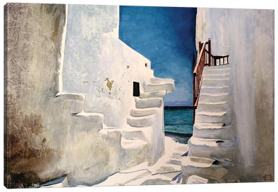 Greek Summer Canvas Art Print