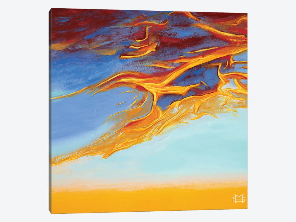 Carefree Sunset by M & E Stoyanov Fine Art Studio 1-piece Canvas Art Print