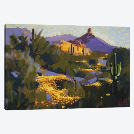 Pinnacle Peak In Spring Canvas Print #MSV39} by M & E Stoyanov Fine Art Studio Canvas Artwork