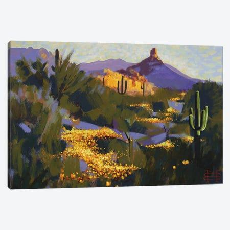 Pinnacle Peak In Spring Canvas Print #MSV39} by M & E Stoyanov Fine Art Studio Canvas Artwork