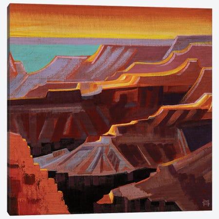 Canyon Peaks Canvas Print #MSV56} by M & E Stoyanov Fine Art Studio Canvas Print