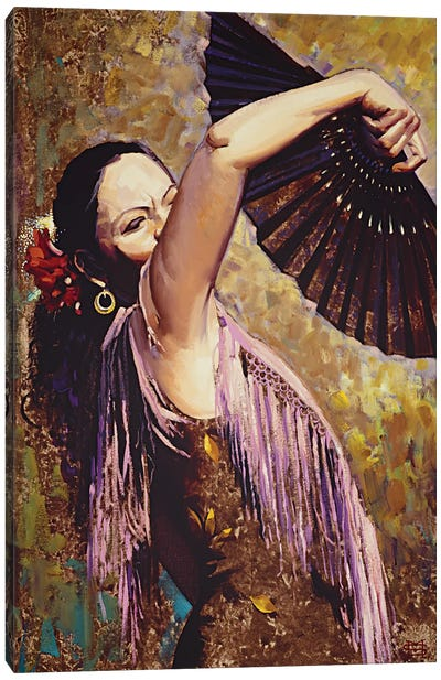 Spanish Dancer Canvas Art Print