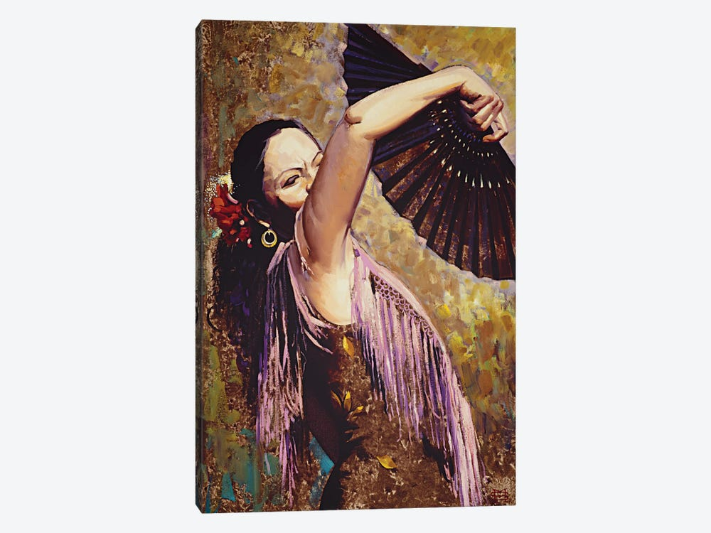 Spanish Dancer by M & E Stoyanov Fine Art Studio 1-piece Canvas Print