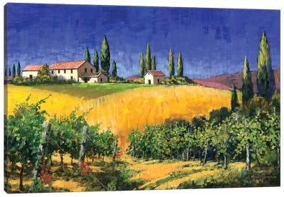 Tuscan Evening Canvas Art Print