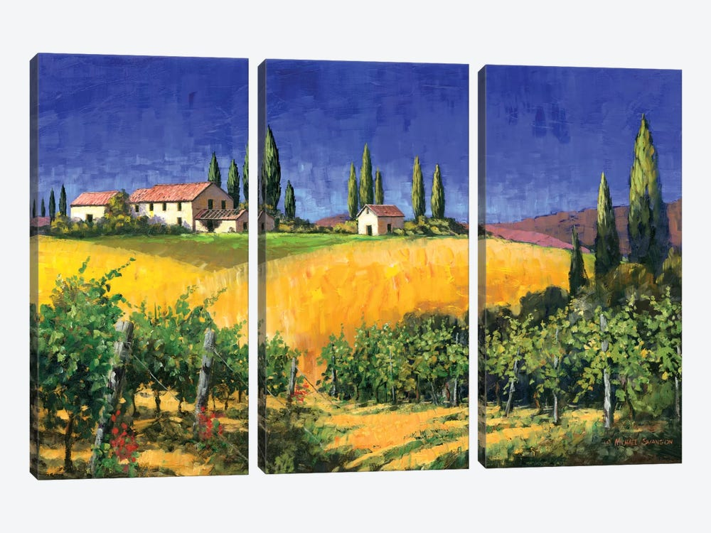 Tuscan Evening by Michael Swanson 3-piece Canvas Artwork