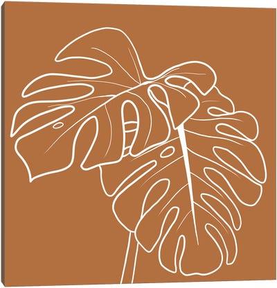 Terracotta Palms Square Canvas Art Print