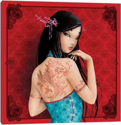 Chine Canvas Art Print