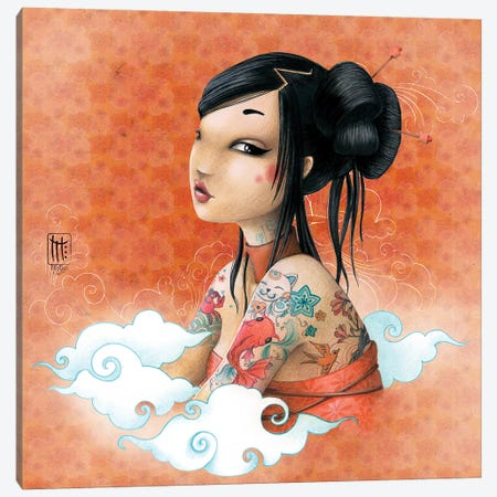 Fond Japon Canvas Print #MTG25} by Misstigri Canvas Artwork