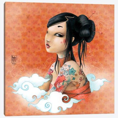 Fond Japon Canvas Print #MTG25} by Misstigri Canvas Artwork