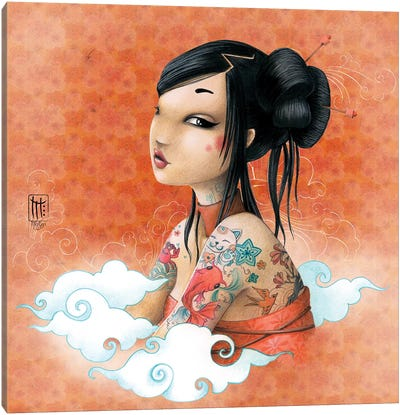Fond Japon Canvas Art Print