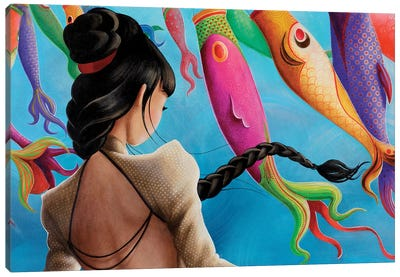 Koinobori Canvas Art Print