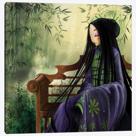 Meditation Canvas Print #MTG43} by Misstigri Art Print