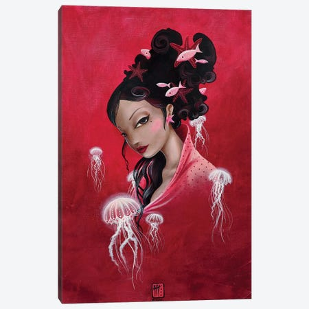 Meduse Canvas Print #MTG44} by Misstigri Canvas Art