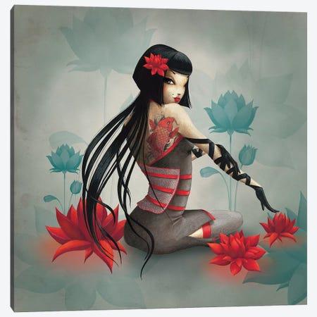 Miss Lily Canvas Print #MTG49} by Misstigri Art Print