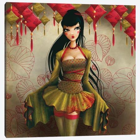Miss Midori Carré Canvas Print #MTG52} by Misstigri Canvas Art