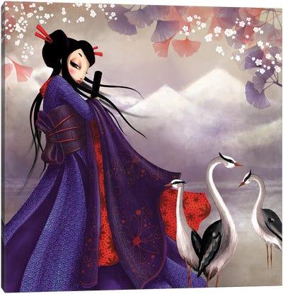 Miss Sakura Canvas Art Print