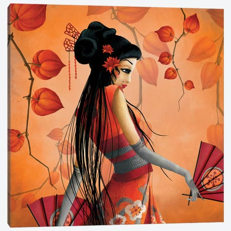 Miss Satsuma Canvas Print #MTG54} by Misstigri Canvas Art Print