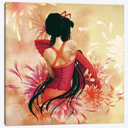 Miss Swan Canvas Print #MTG56} by Misstigri Art Print