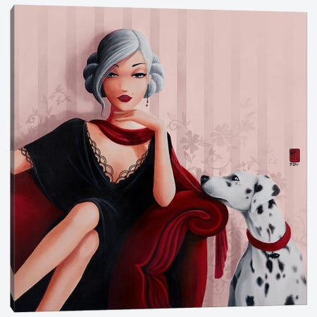 Victoria Canvas Print #MTG84} by Misstigri Canvas Artwork