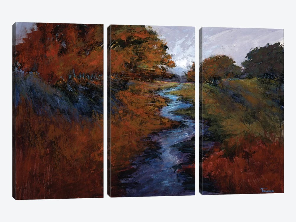Spring Stream I by Michael Tienhaara 3-piece Canvas Wall Art