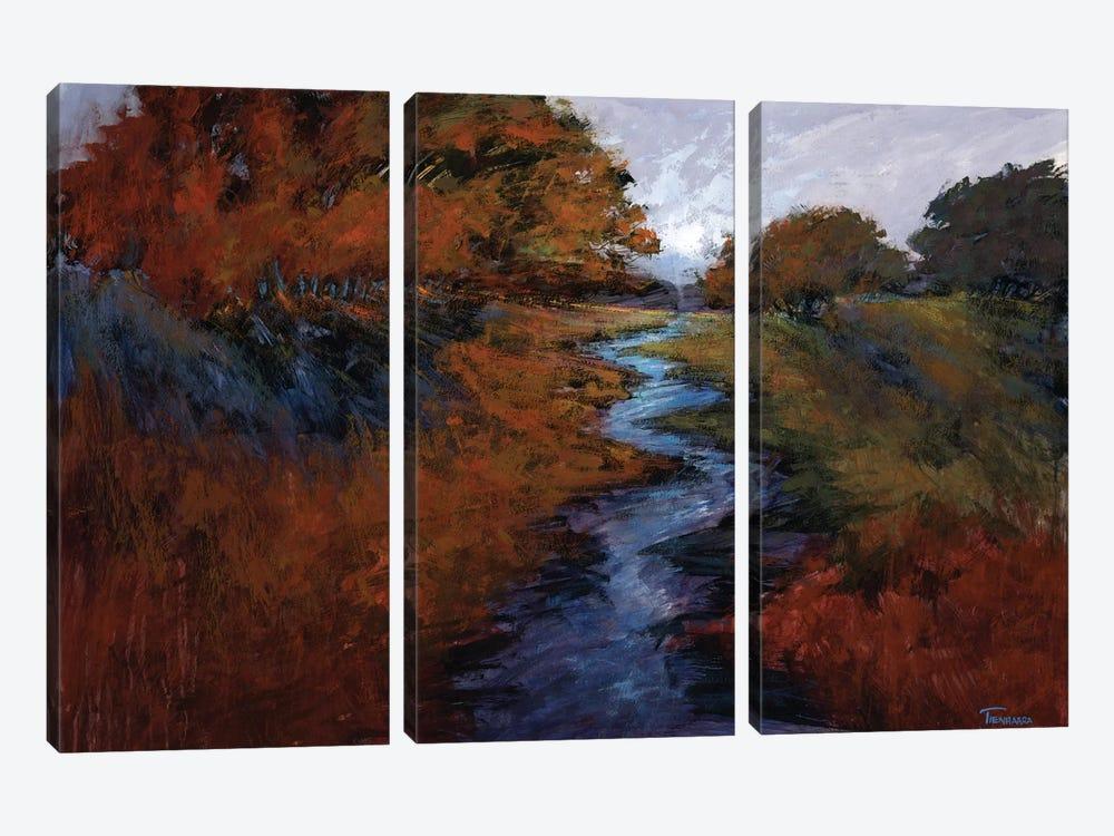 Spring Stream I by Michael Tienhaara 3-piece Canvas Wall Art