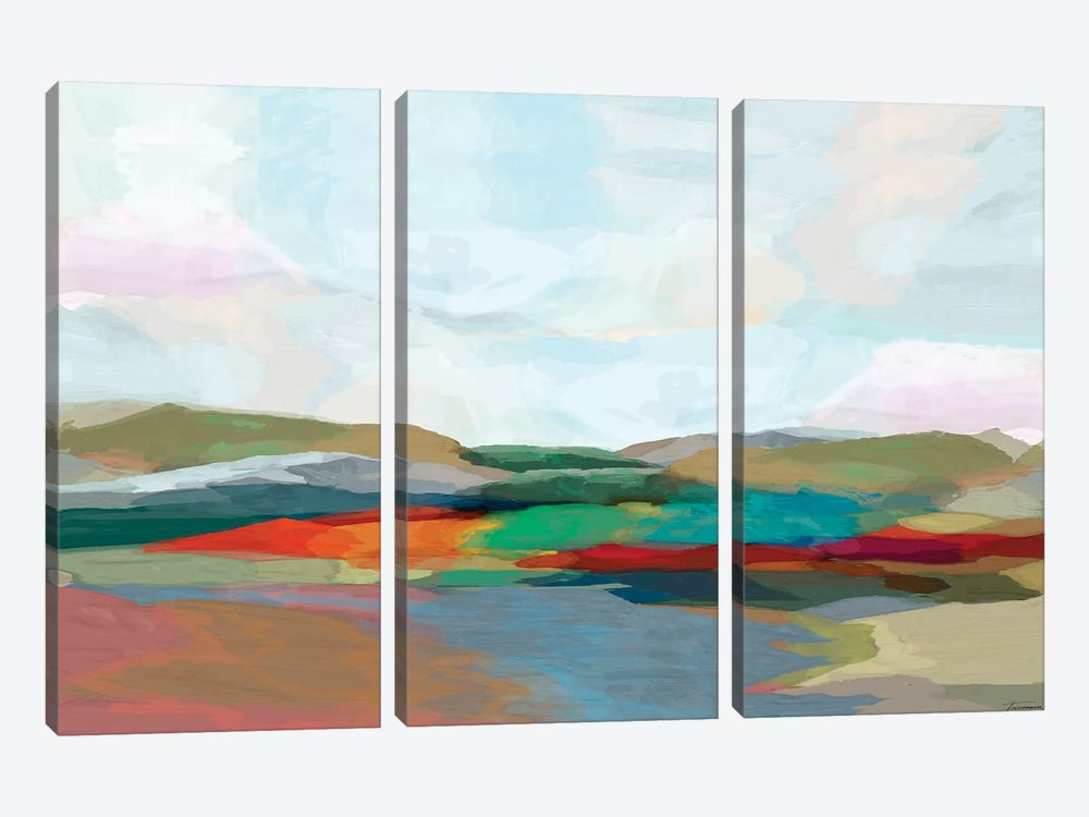 Strata IV by Michael Tienhaara 3-piece Canvas Wall Art