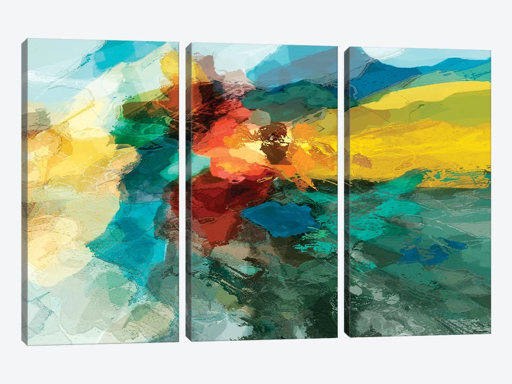 Shapes I by Michael Tienhaara 3-piece Canvas Artwork